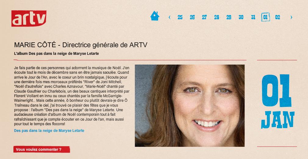 Marie Côté - ArTV