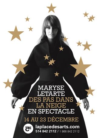 Maryse Letarte à la Place des Arts